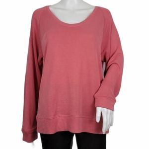 Ann Taylor LOFT Dark Mauve Knit Top Long Sleeve